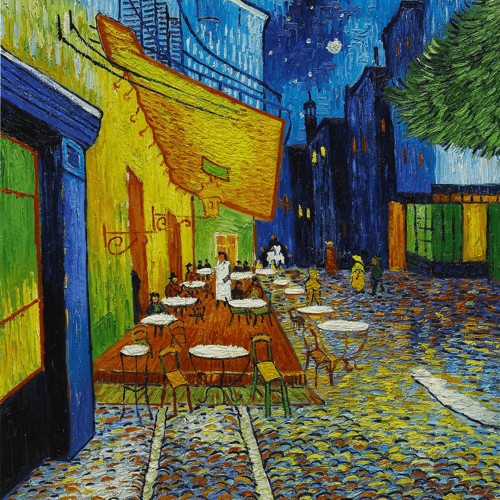 Cafe Terrace At Night Vincent Van Gogh Classic Art Reproductions