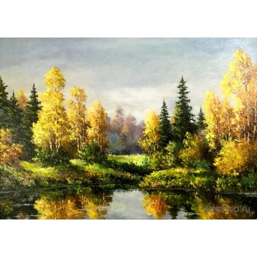 Осенним днем у озера