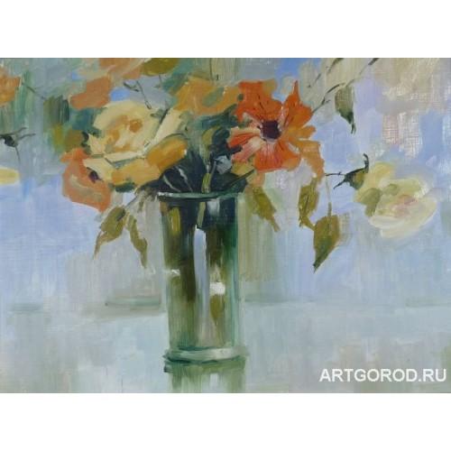 Букет с садовыми цветами