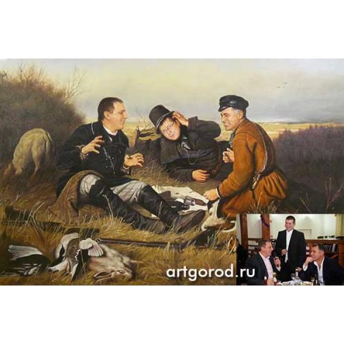 портрет по картине Охотники на привале